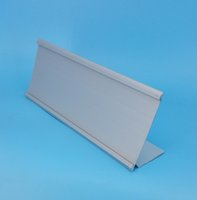 aluminium signs - 95x240mm Aluminium L Shaped Sign Display Paper Title Name Card Table Label Holder Stand Economic Type