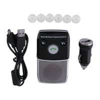 Wholesale High Quality Handsfree Solar powered Bluetooth Speakerphone Support Multi languages