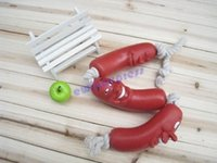 aids games - New Dog Puppy Pet Vinyl Toy Sausage Rope Play Tug of War Games Training Aid