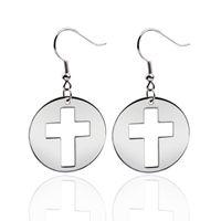 large cross jewelry - fashion jewelry cross drop earrings for women large dangle accessories factory