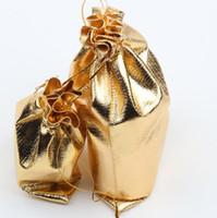 satin jewelry bags - 2015 New sizes Fashion Gold Plated Gauze Satin Jewelry Bags Jewelry Christmas Gift Pouches Bag Wedding Gift Bag x9cm X9cm x12cm x18cm