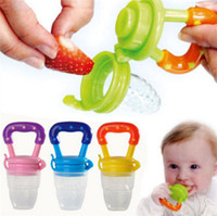 baby food supplies - New Arrivals Safe Baby Kids Infant Nipple Pacifiers Supplies Food Milk Fruits Feeding Tools Silicone Plastic CX355