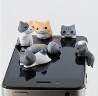 al por mayor lindo gato queso-3.5mm goma de queso anti polvo plugy lindo diseño de dibujos animados teléfono celular tapones de orejas plug queso oído anti-polvo auricular enchufe para el iPhone Samsung