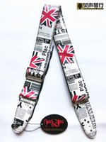 bass guitars uk - 2014 sale new leather uk flag guitar suspenders national newspaper style stainless steel buckle adjustable acoustic strap bass
