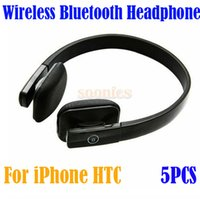 Wholesale Wireless Bluetooth Stereo Headphone Headset Earphone For iPhone S HTC Free Express order lt no track