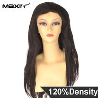 Wholesale Maxin Full Lace Human Hair Wigs Wavy Lace Front Wigs Unprocessed Brazilian Virgin Hair Wigs Full Lace Straight quot Stock A order lt no