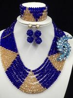 african violet flowering - New Fashion Splendid Violet Nigerian Wedding Beads Jewelry Set Rhinestone Flower Bridal Jewelry Set New LF1003
