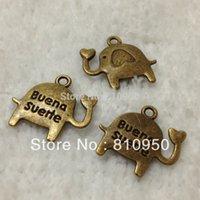 Wholesale Cheap x16mm Metal Alloy Antique Bronze Silver Mini elephant Cute Charms Pendant Jewelry Accessories