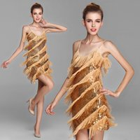 ballroom dresses - latin dance costumes tassels latin ballroom dresses performances latin dance clothes Sequins dance performance dress freeshipping