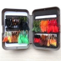 Wholesale vintage wet and dry fly fishing lure stream trout fishing