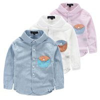 shit - 2015 AUTUMN Preppy Style boy shits COTTON AND LINEN LONG SLEEVE CHILDREN SHIRTS pure cotton lapel long sleeve boy blouses