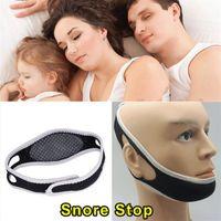 Wholesale 2015 High quality Anti Snoring Chin Strap Neoprene Stop Snoring Chin Support Belt Anti Apnea Jaw Solution Sleep Device