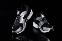 Wholesale New Arrival Air Huarache animal inspired safari print Mens Sneakers Black White Sneakers Breathable Running Shoes