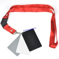Wholesale Camera Accessory in1 Pocket Size Digital White Black Grey Balance Cards Gray Card with Neck Strap for Digital Photography