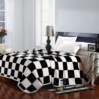 Wholesale 2015 Winter warm soft thick gold mink cashmere blankets for bed double face blanket Specials QBD312101