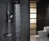 Wholesale Contemporary Chrome Brass Thermostatic Shower Faucet with Shower Head