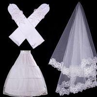 Wholesale 2016 Cheap Bridal Gloves Veils petticoat Wedding Brides Events cm Veils Finger Less Hot Sale wwl