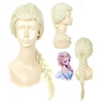 Wholesale cosplay Elsa wig princess anna wig korean High grade rose net heat resistant synthetic wig BE3022