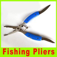 Wholesale Multifunction pliers Stainless Steel Fishing Pliers fishing tool Curved Nose Scissors Line Cutter Remove fish Hook Tackle Tool A466L
