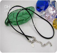 Wholesale New Fashion Jewelry Black Leather Necklace Retail