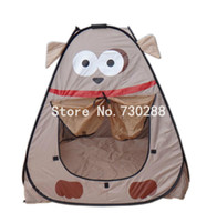 Cheap Wholesale-Children kids Playing Indoor&Outdoor Pop Up House Play Game multi-function tent
