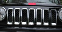 Wholesale For Jeep Patriot Chrome Front Grille Grill Inserts Trim Decorative Cover ABS set
