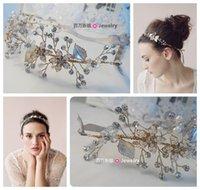Fascinators beaded headwear - Bridal Hair Accessories Beautiful Hand Beaded Headband Rhinestone Bridal Hair Jewelry Bridal Jewelry Headwear Wedding Hair Accessories