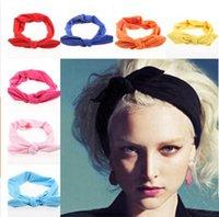 Headbands Women SOLID COLOR 2015 Fashion Korean Style Rabbit Ear Headscarf Elastic Scrunchy Headbands For Women Hair Accessories sport headband