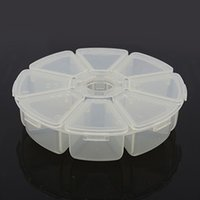 Wholesale Plastic Bead Storage Containers White x105x28mm