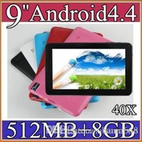 Cheap 40X cheapest Quad Core 9 inch Tablet PC with Bluetooth flash 1GB 8GB A33 Andriod 4.4 1.2Ghz 4-9PB