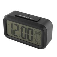 Wholesale Health Black Alarm LED Clock Light Control Backlight Time Date Calendar Thermometer Snooze Modern Gift