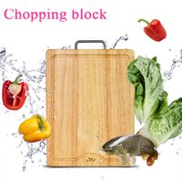 Wholesale End Grain Cutting Chopping Board Kitchen Butcher Wood Block Wooden Reversible Antibacterial Board Cutting Block