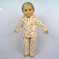 Wholesale Doll Clothes Fit For quot American Girl Doll Pajamas Girl Birthday Present Gift B04