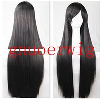 Wholesale Animation wig CM long straight hair Euramerican female hair multicolor Cosplay multicolor universal stage wig