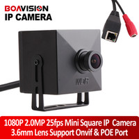 Wholesale 2 Megapixels P Full HD MP mm Lens Mini IP Camera POE Port CCTV Video Super Mini x43mm Low Illumination Onvif P2P