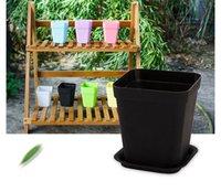 square vase - New Arrival Flower Pots Bonsai Planters Plastic Planter Desktop Floor Mini Succulents Plant Plate Pot Gardening Vase Square Flower Pot