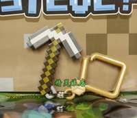 Wholesale Minecraft Hanger Steve Zombie Pigman Cow Zombie Skeleton Sheep Pig Creeper inch Action Figure Toy Keychain