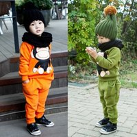 Wholesale Korean Christmas Baby Boy Clothes Hoody Hoodie Outfits Kids Suit Toddler Children Clothing Winter Boys Sets Free UPS Factory Price