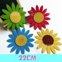 vinyl material - 22Cm D sunflowers cartoon wall stickers Kindergarten DIY material environment Vinyl Wall Paper Decal Art Sticker