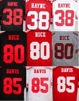 black 49ers jersey - Top NEW Jarryd Hayne Jerry Rice Vernon Davis ers Jerseys Cheap discount football jerseys Custom Limited Elite Game Embroidery