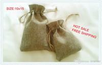 Wholesale JLB x15cm Faux jute Hessian Mini Bags wedding bomboniere Gift bags