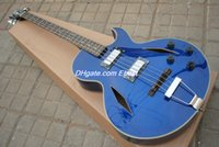 jazz bass - New Arrival strings BASS JAZZ Hollow body electric bass guitar Blue