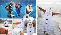 pajamas for children - 20 off Kids Winter New Frozen Costumes Children Lovely Olaf Snowman Pajamas Girls Onesie Boys Party Dress for Unisex mascot