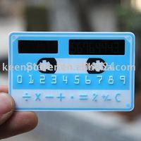Wholesale Solar Powered Thin Pocket Doulex Esigh Card Calculator