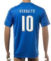 Wholesale Thai Quality Customized New season men Italy VERRATTI European Cup Home Jerseys Shirts PADELLI DEROSSI T shirt Wear Tops