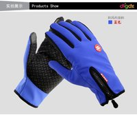 Wholesale 2015 New windproof fleece gloves ski mountaineering gloves triple riding gloves gloves touch function