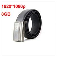 Wholesale Mini Hidden Belt spy Camera belt Full HD P Nonporous Leather belt spy Camera DVR with GB TF Card Long Time Working