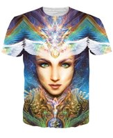 beauty dyed shirt - YNM queen beauty printed tees d Punk tie dye king lady t shirts great mother Camisetas summer style Brand mens tee shirt