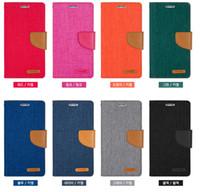 fabric korea - Cell Phone Leather Case Korea Mercury IPhone6 IPhone Plus Denim fabric Cow Boy For Men Wallet Clip Pouch Customize