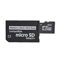 Bon Marché Adaptateurs duo memory stick-Micro SD à MS Pro Duo adaptateur Memory Stick lecteur de carte 200pcs en gros Livraison gratuite